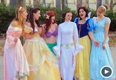 Image: Video still of princesses in Disney/'Star Wars' spoof video (Courtesy of StupidVideos)