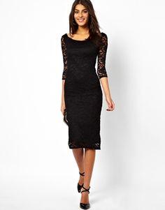 ASOS Bardot Lace Midi Dress