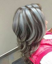 Baby Pink Hair, Purple Hair, Ombre Hair Color, New Hair Colors, Henna Designs, Hair Color Pictures, New Hair Look, Gray Hair Highlights, Transition To Gray Hair