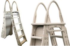 Swimming pool ladders are a great addition to any swimming pool adding to its safety. While most above-ground pools come with these ladders. Intex Above Ground Pools, Above Ground Pool Ladders, Above Ground Swimming Pools, In Ground Pools, Pool Cover Pump, Solar Pool Cover, Swimming Pool Ladders, Best Ladder, Pool Sizes