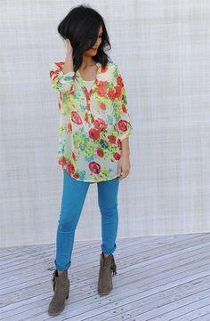 Bright Floral Tunic | Jane