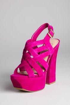 Suede Hot Pink Sandal