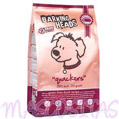 Barking Heads Squackers Grain Free. Es un alimento sabroso y rico en proteínas, Tiene un 50% de pato y lleva añadido el placer dulce de la batata! Rico en antioxidantes, estabiliza los niveles de azúcar en sangre y disminuye la resistencia a la insulina.