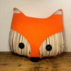 Fox Pillow  Woodgrain by woollypetals on Etsy, $28.00