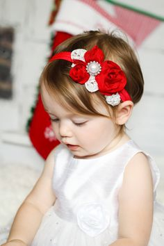 Hey, I found this really awesome Etsy listing at https://www.etsy.com/listing/150899496/red-flower-headband-valentines-day