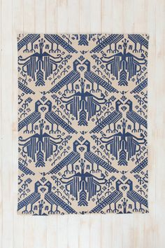 Urban Outfitters - Magical Thinking Bird Stamp Rug