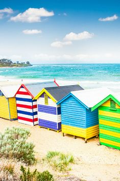 20 Most Beautiful Places in Australia Photos | Colorful Travel | Most Colorful Places in the World | Things to Do in Melbourne Australia | Travel Photography | Bathing Boxes of Brighton Beach Melbourne Australia | Photo by Aleksandar Todorovic/Bigstock for AdventureDragon.com | #Colorful #Travel #Australia #Melbourne