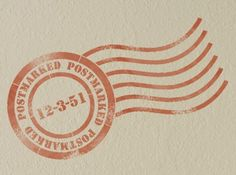 Wall Stencil Pattern-Postmark Stencil for Vintage Wall Decor From Our Typography Stencil Collection