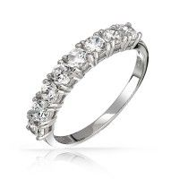 Eternal sparkle with a half eternity wedding band.... or anniversary gift!