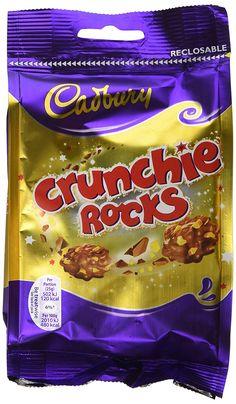Cadbury Crunchie Rocks Chocolate Bag 110 g Cadbury Chocolate, Chocolate Covered Raisins, Snack Recipes, Rocks, Chips, Amazon, Bags, Food, Essen
