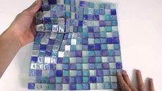 Iridescent Glass Mosaic Tile Cobalt Blend 1x1 - 120KELU11BL4 http://www.mineraltiles.com/iridescent-glass-mosaic-tile-cobalt-blend-1x1/