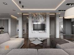 Дизайн интерьера гостиной комнаты в стиле минимализм - Пятикомнатная квартира в стиле минимализм, ЖК «Классика», 208 кв.м.