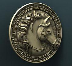 "STL Model for CNC Router Engraver Carving Machine Relief Artcam Aspire ""Horse"" cnc file Arte Country, 3d Cnc, Circle Tattoos, Wood Carving Designs, Horse Sculpture, Mural Art, Horse Art, Clay Art, Wood Art"