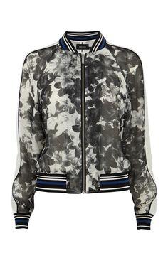 Floral bomber jacket | Luxury Women's zz_criteo | Karen Millen