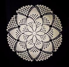Crochet Doilies, Dish, Free Crochet, Crochet Flowers, Crochet Tablecloth, Crochet Edgings, Driveways, Amigurumi, Tejidos