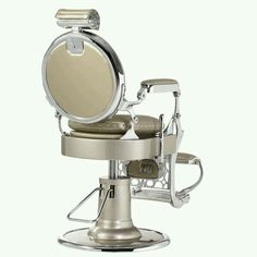 Vintage barber chair. I really like the colors on this one.