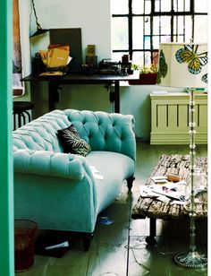always love this anthro catalogue. - beautiful colors and love the couch!