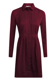 It is time for a new season! Let's open the doors for some new autumn/ winter colours like this dress is made of. This new cut is cool, easy and wonderful to wear. Long sleeves. Polo neck. Mid-length. Button down front. Fabric content:100%Tencel Care: 30°Eco Machine Wash Garment length:Size1 90cm /Size2 91.4cm / Size3 93cm / Size4 94cm