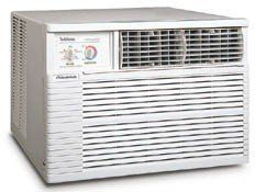Friedrich : YS13L33 Window/Wall Air Conditioner by Friedrich. $1249.00. Features and Benefits:Installs in wall12700 BTU cooling capacity11000 BTU heatingEnergy Star qualified 11 EER1149 cooling watts1185 heating wattsMoisture removal: 3.5 pints/hourRoom air circulation: 325 CFMDeluxe features with manual controlsMoneySaver setting saves energy by turning the fan on and off with the compressorThree cooling and 3 heating speeds, plus fan only settingSlide out chas...