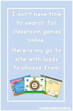 Clever Classroom: I Don't have Time to Search for Classroom Games Online, here is my go to Site Copacabana Get SMART - Resources for everything! Teaching Technology, Teaching Tools, Educational Technology, Teacher Resources, Teaching Ideas, Educational Games, Learning Games, Toddler Learning, Classroom Activities