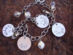 All Mine Hand Stamped Sterling Silver Disc Tag by ladybughugz. $48.00, via Etsy.