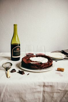 Flourless Chocolate and Red Wine Swedish Cake