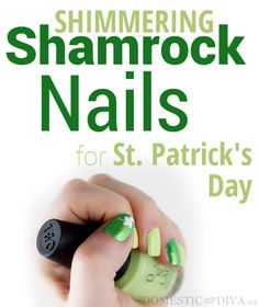 Lucky Shimmering Shamrock Nails (tutorial)