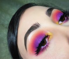 Colourful eyes Visit http://MakeupMosaic.com and show off your favorite makeup looks! #eyes #eyeshadow #makeuplovers