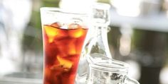 Ice tea with passion fruit