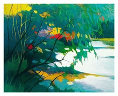 Tangletown Fine Art 'Noonday Dreams' by Tadashi Asoma Graphic Art on Wrapped Canvas Emerald Green Decor, Art Commerce, Framed Art, Wall Art, Dream Art, Paintings I Love, Office Art, Bedroom Art, Botanical Art