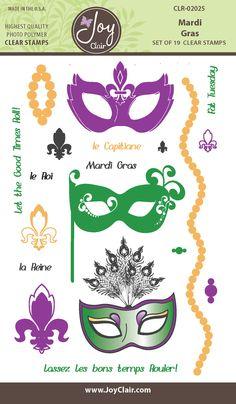Mardi Gras Clear Stamps - Joy Clair