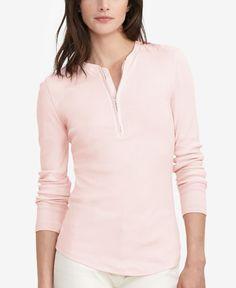 Lauren Ralph Lauren Petite Half-Zip Shirt