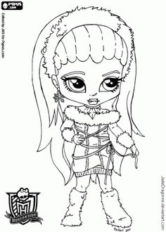 Baby Monster High Coloring Pages | Monster High Coloring Page | Free ...
