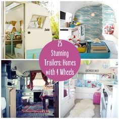 25 Stunning Trailers: Homes with 4 Wheels. I cabn see a make-over coming for both the living quarters in my horse trailer and the camper! by charlene Diy Camper Trailer, Camper Trailers, Tiny House Living, Rv Living, Airstream, Go Glamping, Family Glamping, Vintage Rv, Vintage Campers