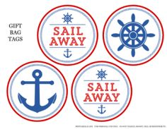 Free Nautical Party Printables (Gift Tags, Sign and Card), plus more items that you can purchase!