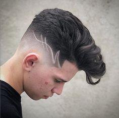Mens Haircuts Short Hair, Short Fade Haircut, Cool Haircuts, Men's Haircuts, Hair Tattoo Men, Hair Tattoos, Haare Tattoo Designs, Cool Hair Designs, Gents Hair Style