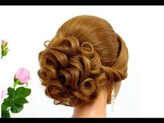 awesome Updo hairstyles. Wedding prom hairstyles for medium hair. Bridal hairstyles