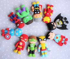 Superhéroes Batman hulk spiderman superman flash thor por Pittitus