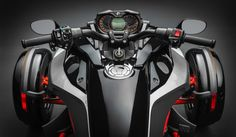 The new UFit system on the 2015 Can-Am Spyder allows riders to adjust handlebar and footpeg position. Ariel Atom, Can Am Spyder, Third Wheel, Four Wheelers, Ex Machina, Car Wheels, Motorcycle Gear, Bike Life, Motorcycles For Sale