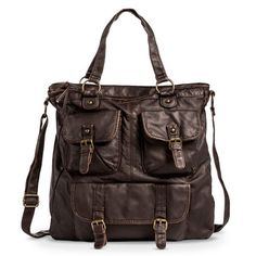 Women's Tote Handbag with Front Pockets