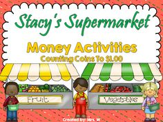 Canadian Money Activities and Worksheets - Counting Coins To $1.00 Money Activities, Learning Activities, Teaching Resources, Identifying Coins, Counting Coins, Primary Education, Helping Hands, Activity Centers, Life Skills