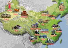 essential China travel maps especially for foreign people haha China Map, China Travel, Travel Maps, Beijing, Shanghai, Dunhuang, Living In China, Visit China, Kunming