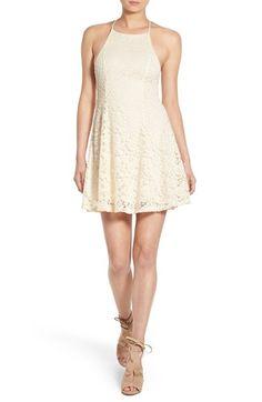Lush Crossback Lace Skater Dress