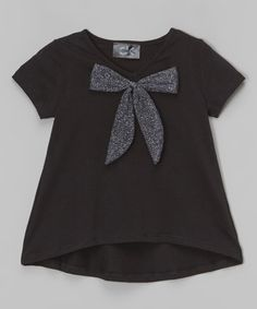 Love this Black High-Low Bow Top - Infant, Toddler & Girls on #zulily! #zulilyfinds