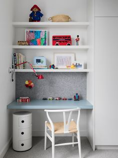 Melbourne-based interior designer Ali Ross took an ordinary Victorian home and crafted a modern family space filled with light. Girls Bedroom, Bedroom Desk, Lego Bedroom, Childs Bedroom, Kid Bedrooms, Girl Rooms, Fitted Bedrooms, Boys Desk, Kid Desk