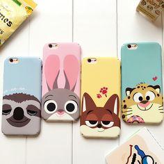 i7 i6 Zootopia Rabbit Judy Fox Sloth Lion Phone cases For iPhone 7 7Plus Hard Plastic Matte Case for iPhone 6 6s 6plus 6splus