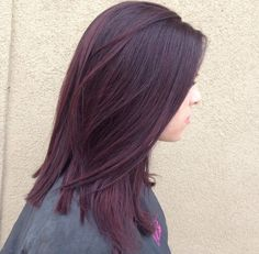 Best hair color dark blackberry ideas - All For Hair Color Balayage Cherry Hair Colors, Hair Color Pink, Hair Color For Black Hair, Cool Hair Color, Chocolate Cherry Hair Color, Black Cherry Hair Color, Dark Hair Colours, Dark Cherry Hair, Violet Hair Colors