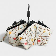 Small Fresh Art Travel Umbrella Female Folding Dual-purpose Sunshade Umbrella UV Sunscreen Black Glue