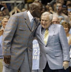 Dean Smith and Michael Jordan from Twitter feed of Coach Smith's death.  We have lost one of the finest humans to have graced the earth.  Much, much more than a ball coach.