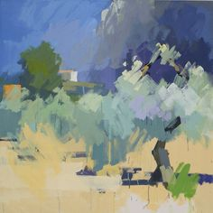 Ernesto's house, no.2.  Oil on canvas 32 x 32 ins.  Philip Richardson